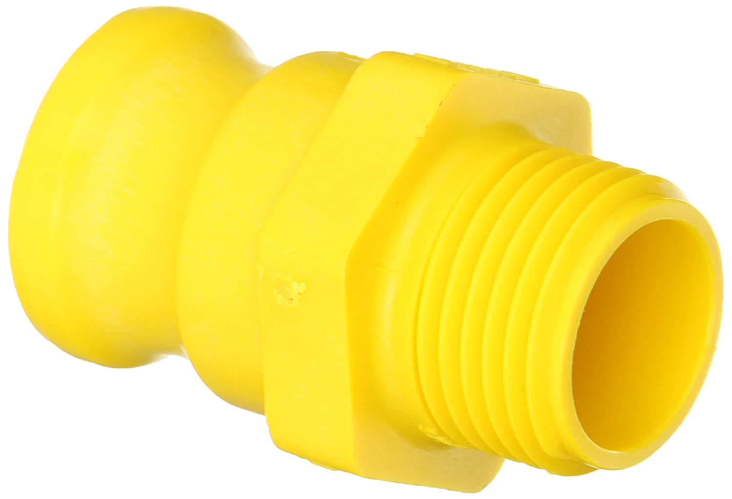 """Banjo GHMT075F Polypropylene Cam & Groove Fitting, 3/4"""" Male Adapter x GHT Male"""