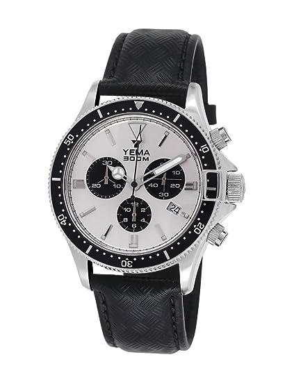 Reloj yema Pro Diver hombre soleillé Silver y contadores negros - ymhf1405 - Idea regalo Noel: Amazon.es: Relojes