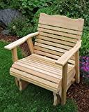 2' Natural Cedar Porch Glider, Amish Crafted
