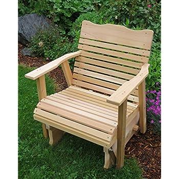 2u0027 Natural Cedar Porch Glider, Amish Crafted