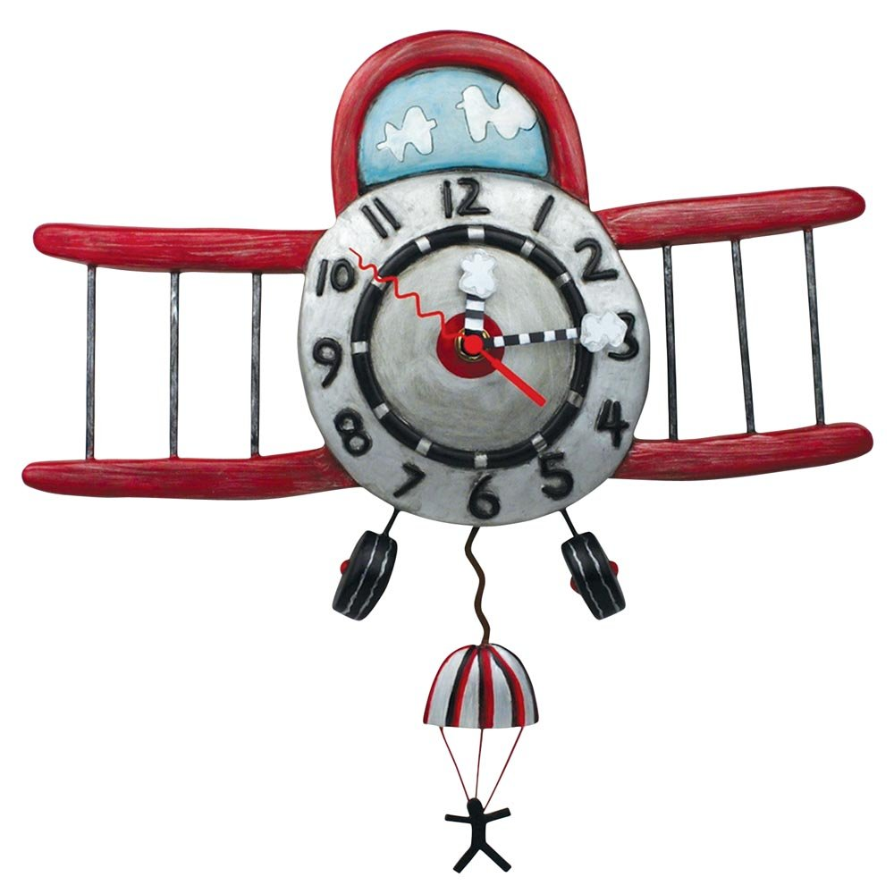 Airplane wall clock image collections home wall decoration ideas airplane personalized childrens decorative wall clock plane wall high flyer airplane personalized decorative wall clock boys or girls personalized clock amipublicfo Images