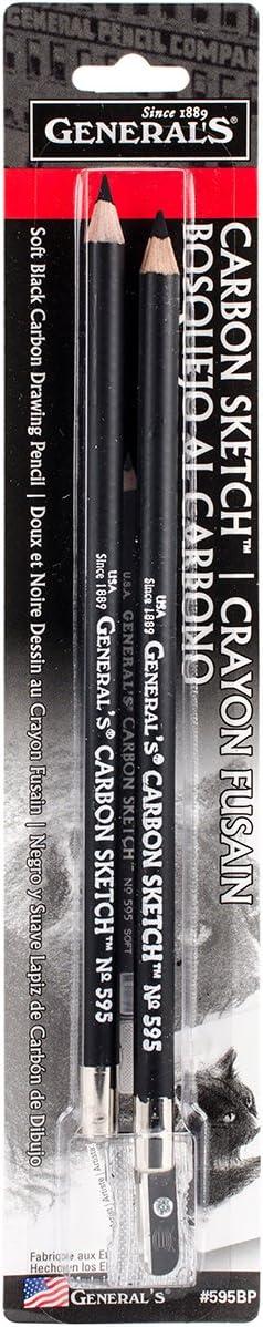 Carbon Sketch Pencils 2//Pkg-#595-BP