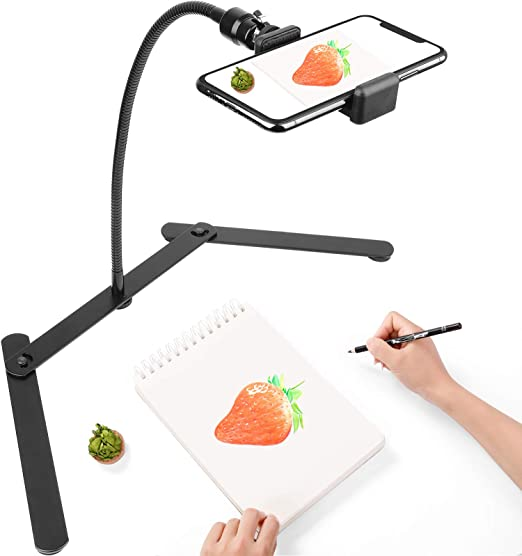 Adjustable Tabletop Overhead Phone Mount