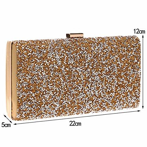 Bal Or De Smoking La Main Pack Or Soirée Sac Paquet Mode À Diamant Mme De Le XJTNLB De q4p67aAz