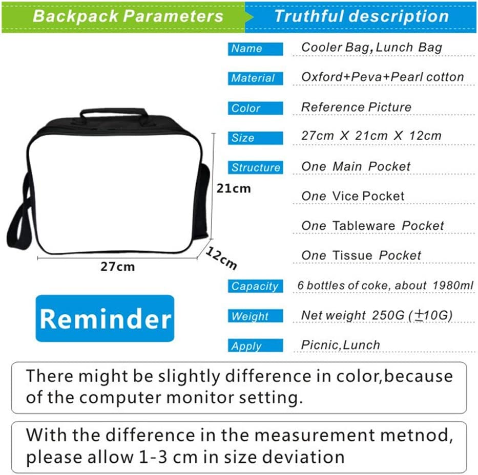 Schoolbag Student Bag 3D Large Cartoon Print Backpack Pattern for Teenage Boys And Girls(Backpack + Pencil Bag + Lunch Bag) J E