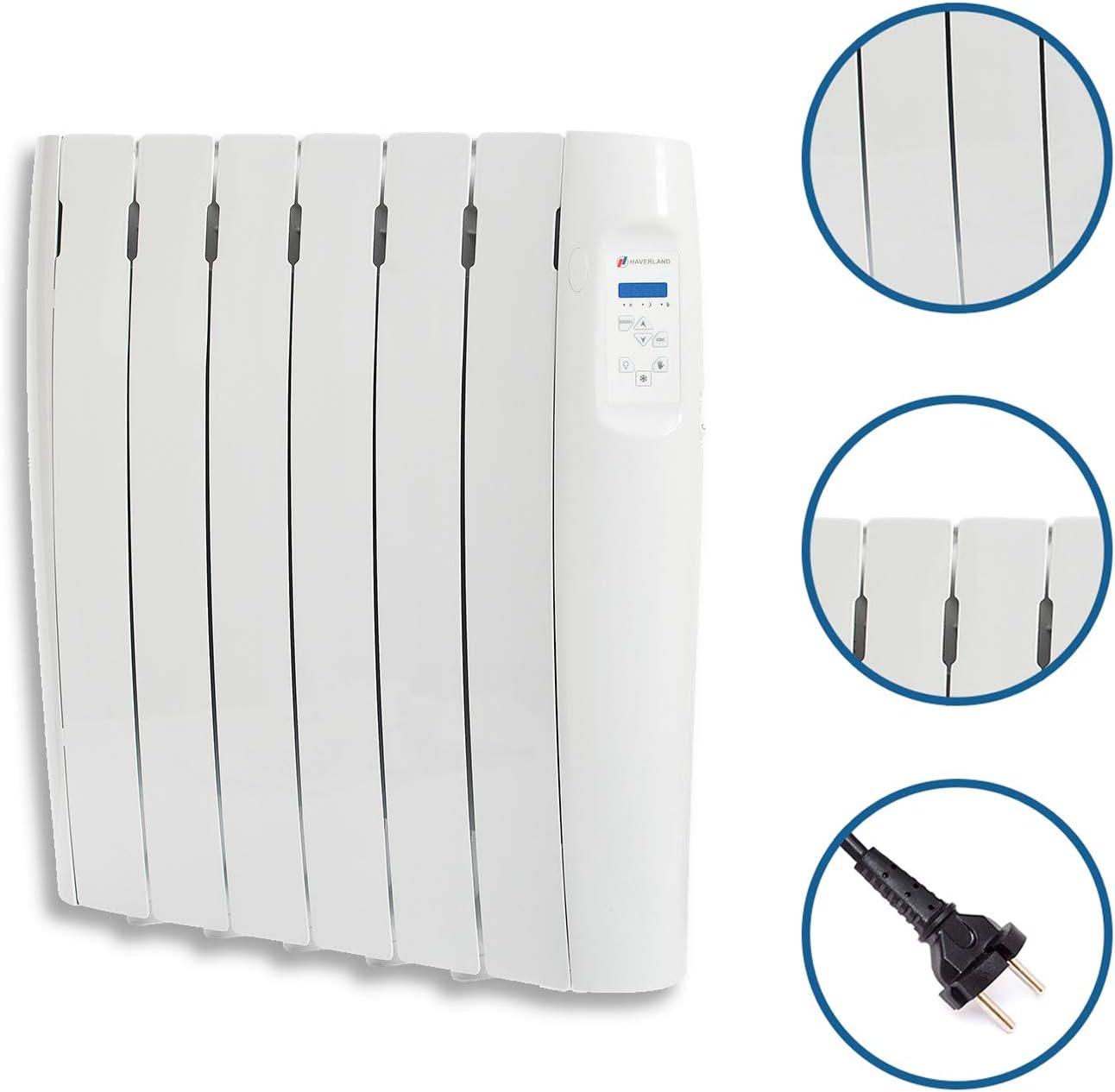 Pantalla Temperatura Ambiente Radiador Digital Fluido Bajo Consumo Haverland RC12M Programable 12 Elementos 1500 de Potencia Exclusivo Indicador De Consumo