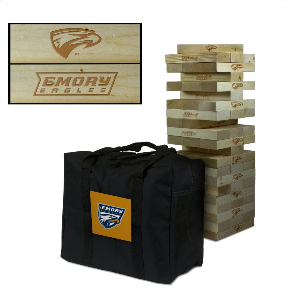 Victory Tailgate Emory University Eagles Giant Wooden Tumble Tower Game Set by Victory Tailgate