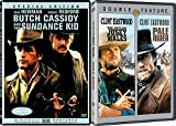 Pale Rider + The Outlaw Josey Wales & Butch Cassidy and the Sundance Kid DVD Western Action Pack 3 Movie Set Clint Eastwood Paul Newman