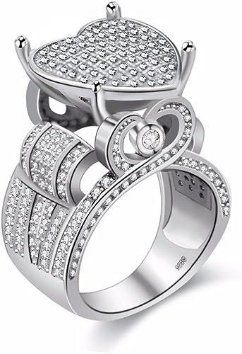 Femmes Noir Blanc Bague Diamant Sz 6 Cluster//carrée//Sterling silver//