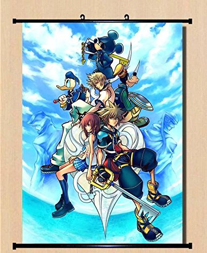 Scroll Heart (GAME DISNEY'S KINGDOM HEARTS Series Home Decor Wall Scroll Poster Fabric Painting 23.6 x 31.5 Inches-032)