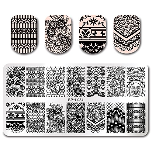 BORN PRETTY 7Pcs Nail Art Stamping Template Flower Fruit Summer Manicure Print DIY Image Plate with Stamper Kit by Born Pretty (Image #4)