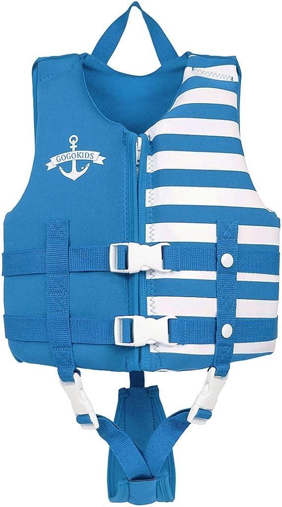 JKSPORTS Life Jacket Learn-to-Swim Buoyancy Aid Vest Children Float Vest Kids Swimming Training Jacket Learn to Swim for Boys Girls Begin to Swim Cartoon Swim Vest