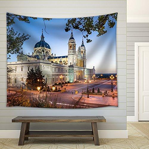 Madrid Spain at La Almudena Cathedral and The Royal Palace Fabric Wall