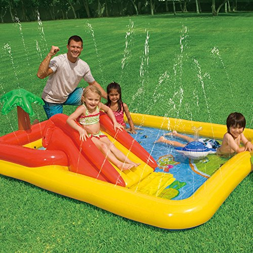 """Intex Ocean Inflatable Play Center, 100"""" X 77"""" X 31"""", for Ages 2+"""