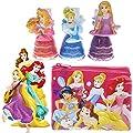 TownleyGirl Disney Princess Nail Polish with Storing Bag, 4 CT