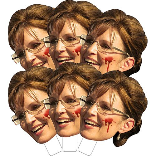 K10505 Sarah Palin Chainsaw Face-Ka-Bobs (Sarah Palin Mask)