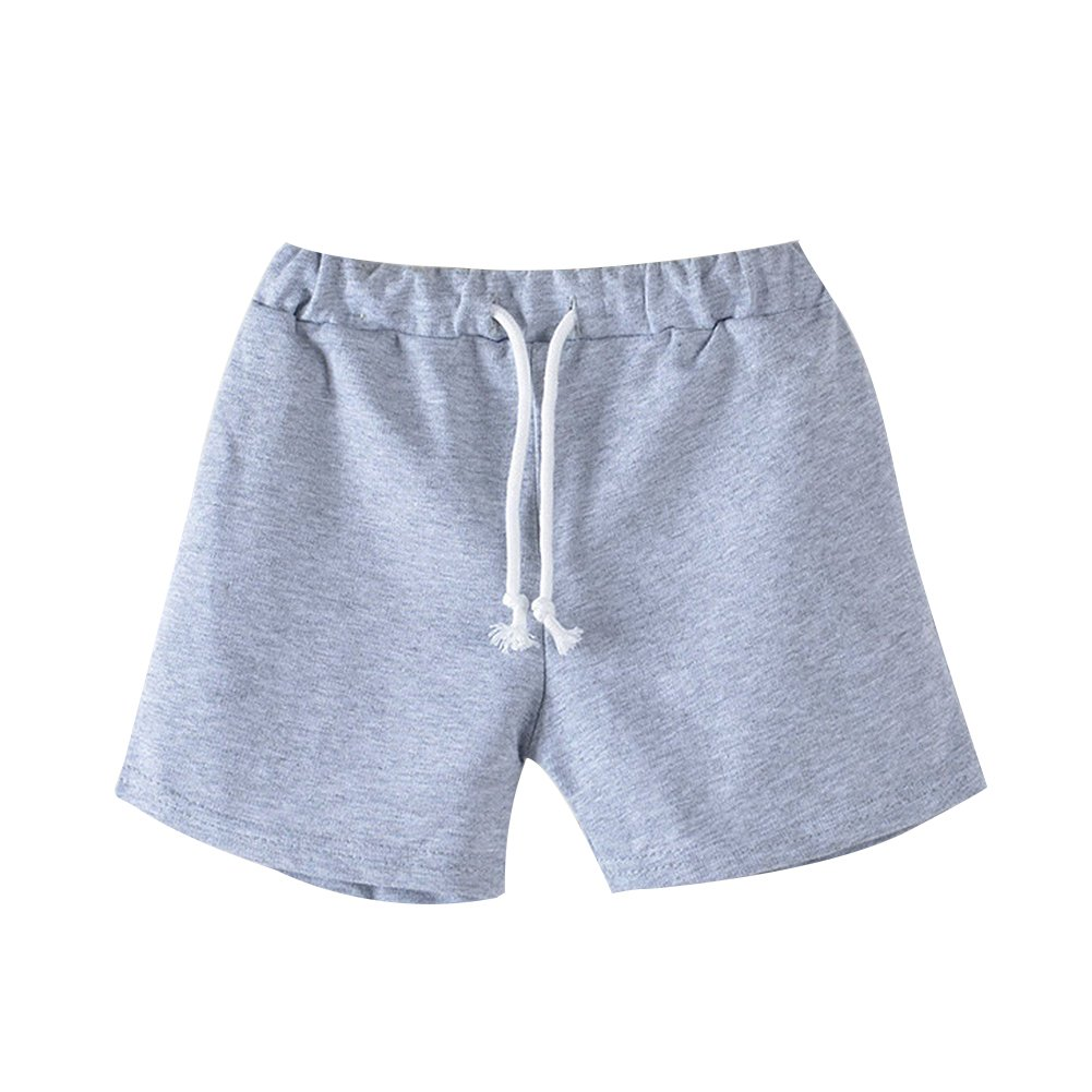 BOBORA Ragazze ragazzi Pantaloncini sportivi Colore solido estate spiaggia pantaloni corti con coulisse BON-IT-1535