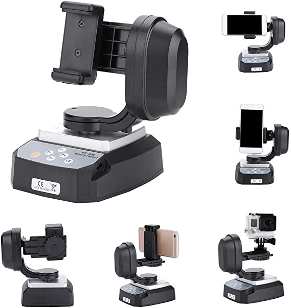 Acouto ZIFON YT-500 Motorized Remote Control Pan Tilt Tripod Mount Adapter for Action Cameras Phone