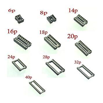 105 unids IC Socket 10 valores de inmersión 6 P 8 P 14 P 16 P