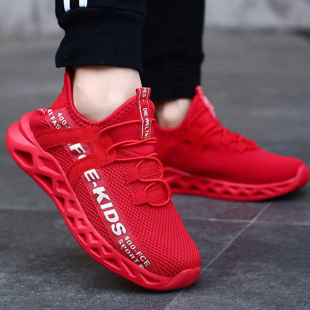 Chaussures de Sport Enfant Gar/çon Baskets Coussin Mode Chaussures de Running Fille Sneakers en Salle Respirant Chaussures de Course L/ég/ère et Confortable