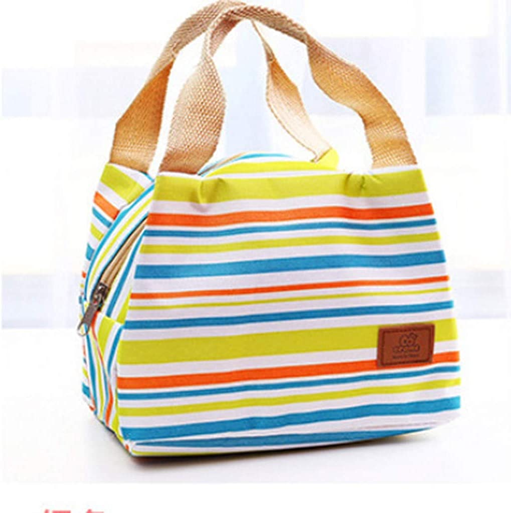 Orchid grass Lunch Bag f/ür Frauen Streifen K/ühltasche Einkaufstasche Isolierte Lunchbox Wasserabweisende Thermo-Soft-Liner-Tasche mit Rei/ßverschluss Lunchpaket