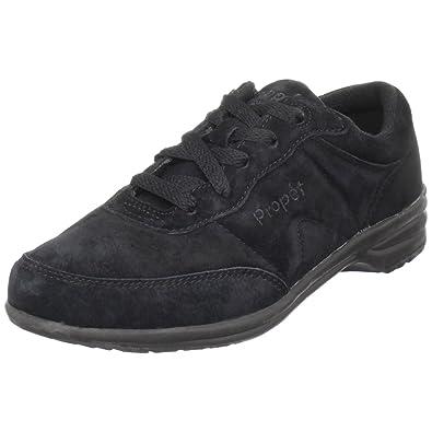 Propet Women's W3841 Sneaker,Black Suede,6.5 ...