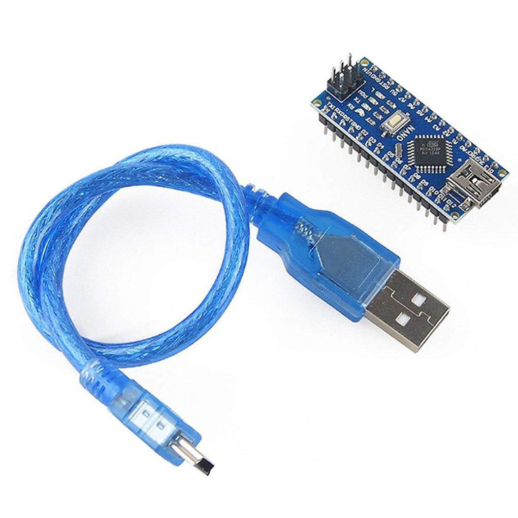 Topker IDE de Planchar Mini Nano V3.0 ATmega328 mó dulo electró nico y USB Cables compatibles para Arduino