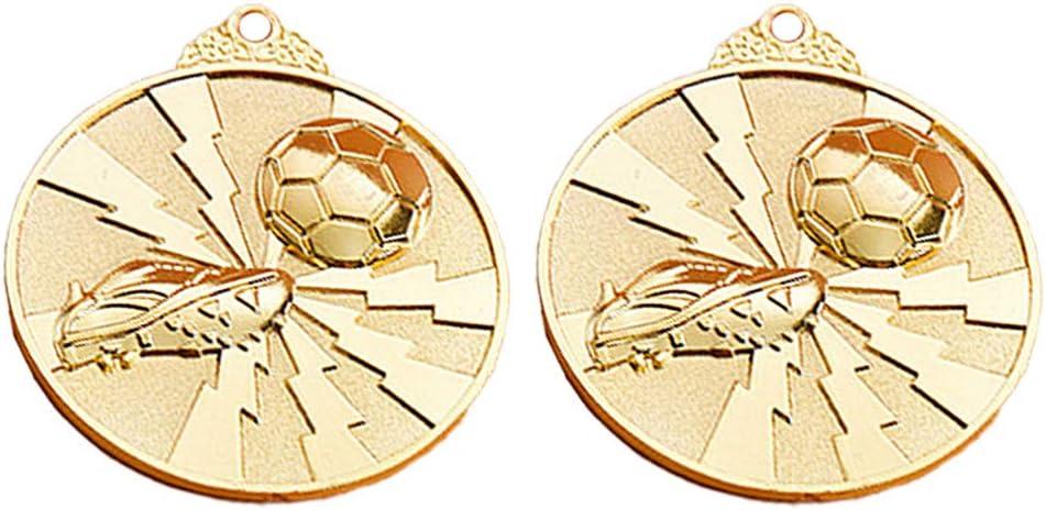 Amazon.com : TOYANDONA 2Pcs Soccer Medal Zinc Alloy ...
