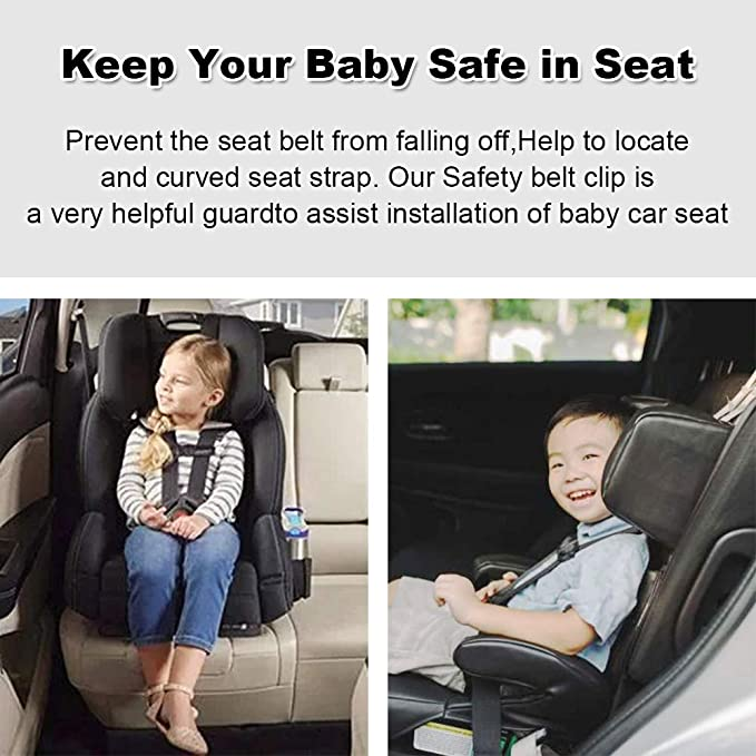 Black BESPORTBLE 3pcs Car Seat Chest Harness Clip Car Seat Safety Belt Clip Buckle Universal Replacement for Baby and Kids