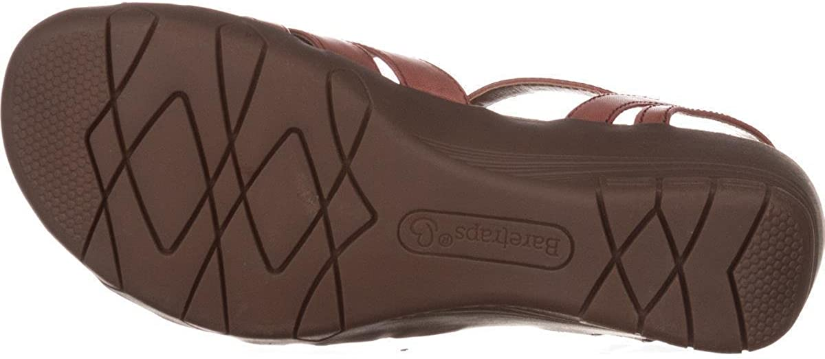 BareTraps Womens Honora Leather Padded Insole Huarache Sandals