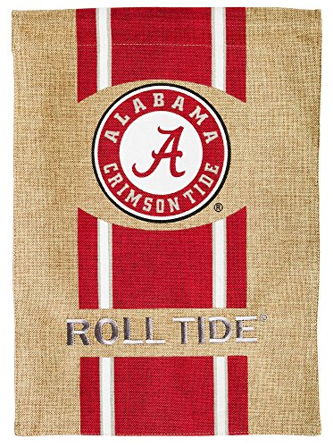 Day Chip Game Alabama - Team Sports America Flag, Burlap, Garden Size, University of Alabama