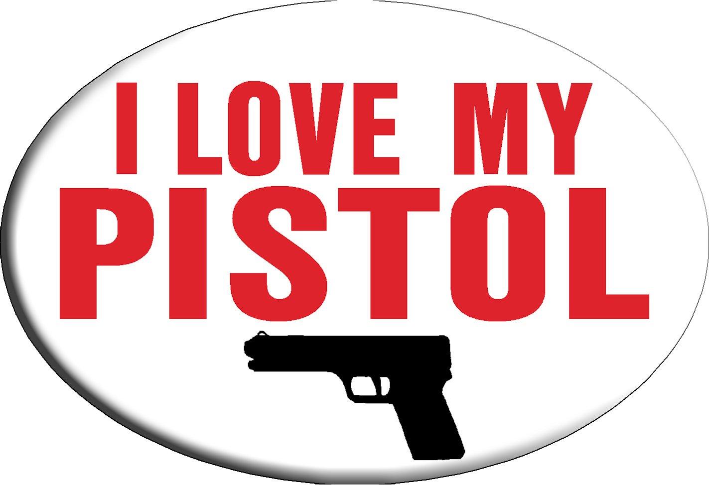 Knockout 618.9 I Love My Pistol Hitch Cover