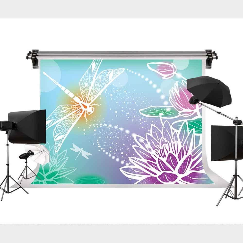 中国風 蓮の花 青い背景 写真 写真 背景 読書 写真 装飾 9x6フィート STS MST018   B07MP8BMK5