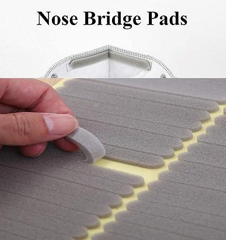 5 Piezas de Accesorios para Evitar Que Las Gafas se empa/ñen Puente Nasal antivaho TPR Almohadillas nasales para Gafas Transpirables Kooshy Almohadillas para la Nariz Tiras de Puente Nasal