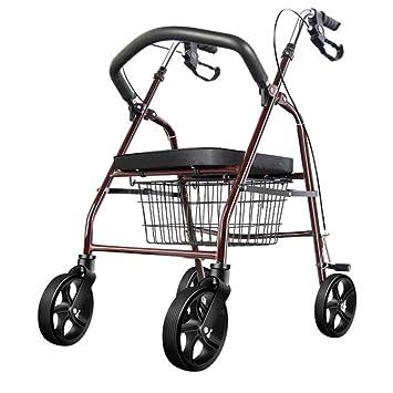 Carritos de la compra Walker rollator/Andador/Walker rollator para Mayores Compras/Carro para Personas Mayores Mayores Ayuda Light Andador Plegables Walker ...
