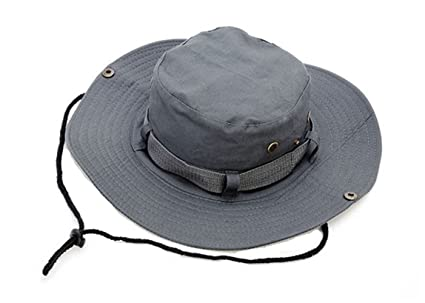 Keross Unisex Wide Brim Sun Hat Perfect for All Outdoor Activity UV  Protection (grey) 34c0363b796