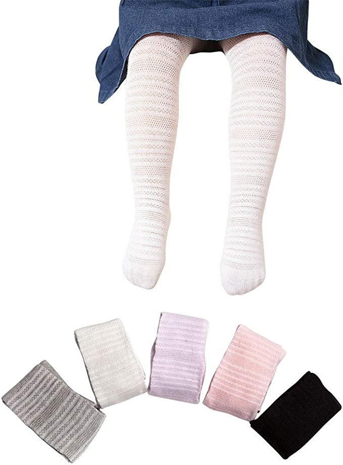 0-4Y Baby Girls Tights Basic Plain Rib Stitch Knit Leggings Stockings 1 Pack Pantyhose Infants Toddlers