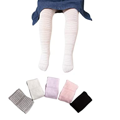 40673fc099ef9f 5 Pack Baby Kids Girls Cable Knit Tights Cotton Solid Leggings Stocking  Pants Pantyhose 1-