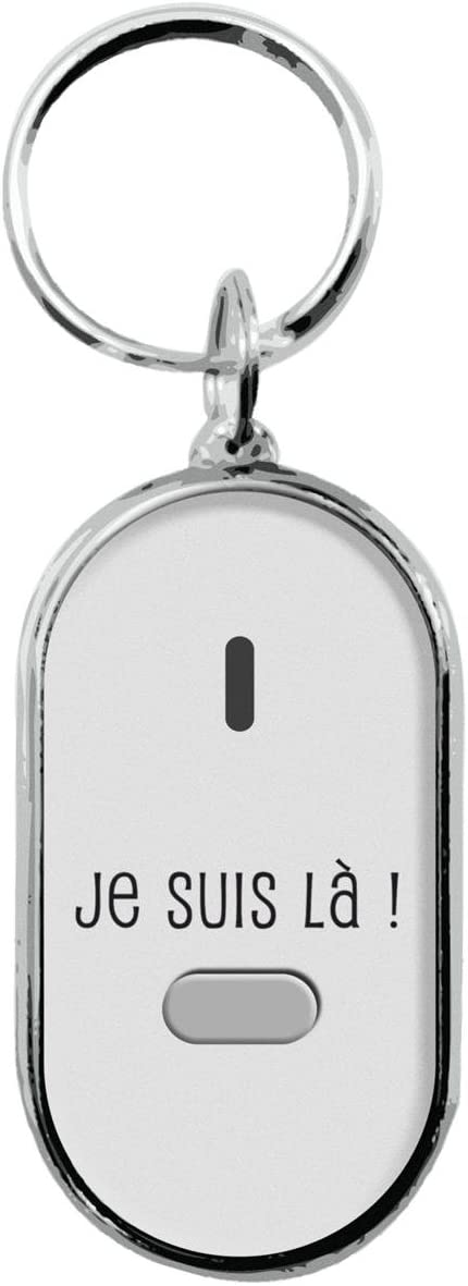 Blanc Porte-cl/és siffleur pour ne Plus jamais Perdre Vos cl/és !