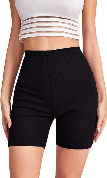 Shein Pantalones Cortos De Ciclismo Para Mujer Con Cintura Alta Elastica Amazon Com Mx Ropa Zapatos Y Accesorios