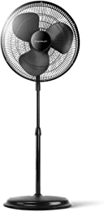 Sweepstakes: Classic Pedestal Stand Fan 16 Black Features Oscillating...