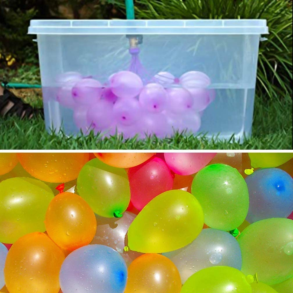 cotton yangda222 or 555 water balloons self-sealing fill water bomb easily and quickly summer splash fun water fight game for children and adults