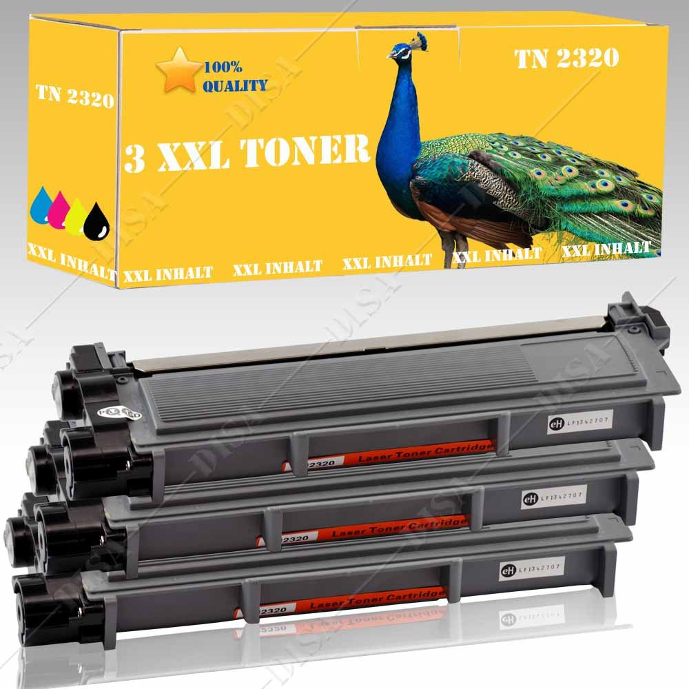 3 x Toner compatibili Brother TN2320 Brother DR 2300/TN 2310/TN2320 Kompatibel mit Brother