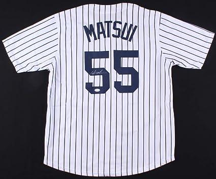 HIDEKI MATSUI SIGNED N.Y. YANKEES JERSEY w JSA WITNESS PROTECTION PROGRAM  COA 0d190691ced
