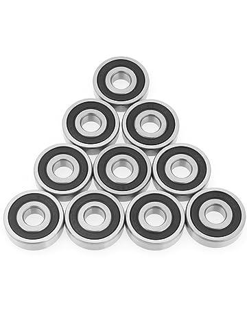 10pcs 6200 – 2RS Mini Rodamientos a bola de acero Double Side Rodamientos a bolas de