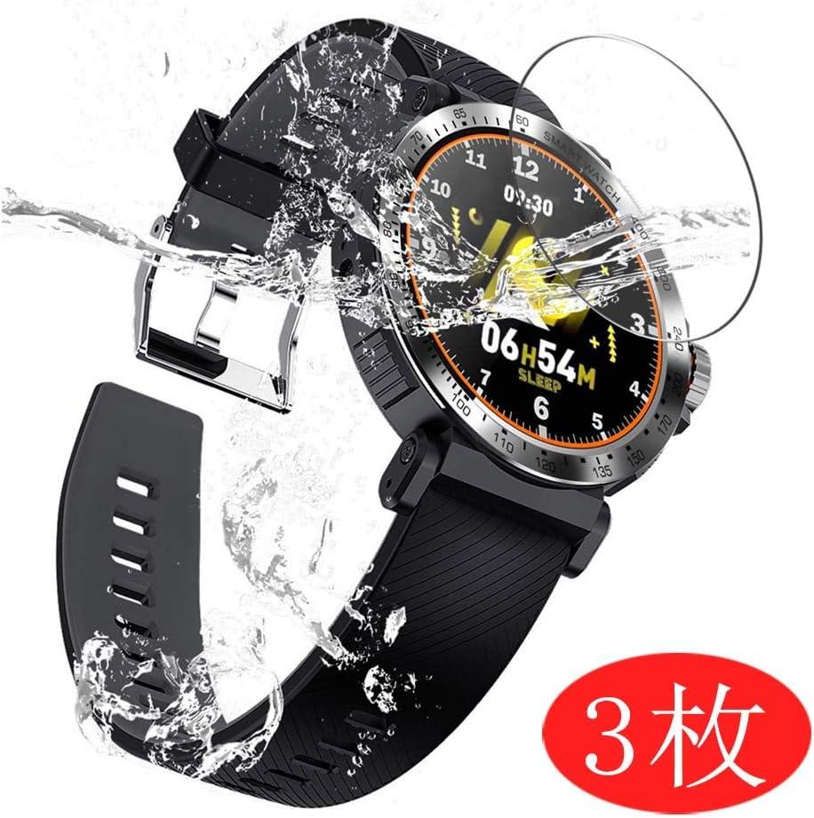 VacFun 3 Piezas HD Claro Protector de Pantalla para Smartwatch Smart Watch K18, Screen Protector Sin Burbujas Película Protectora (Not Cristal Templado)