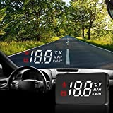 Car Head Up Display HUD LED Windshield Screen Projector Speedometer Overspeed Warning System with OBD Cable