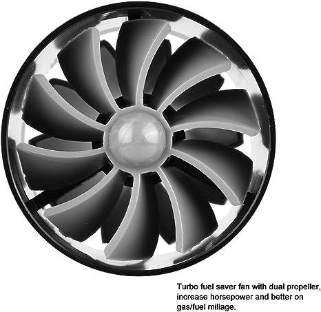 Duokon Auto Lufteinlass Turbonator Dual Fan Turbinen Superlader Gaskraftstoff Sparer Turbo Schwarz Auto