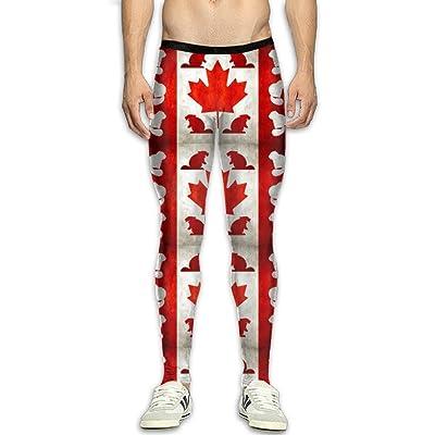 Fri Canada Beaver Compression Pants/Running Tights Athletic Leggings Men Winter