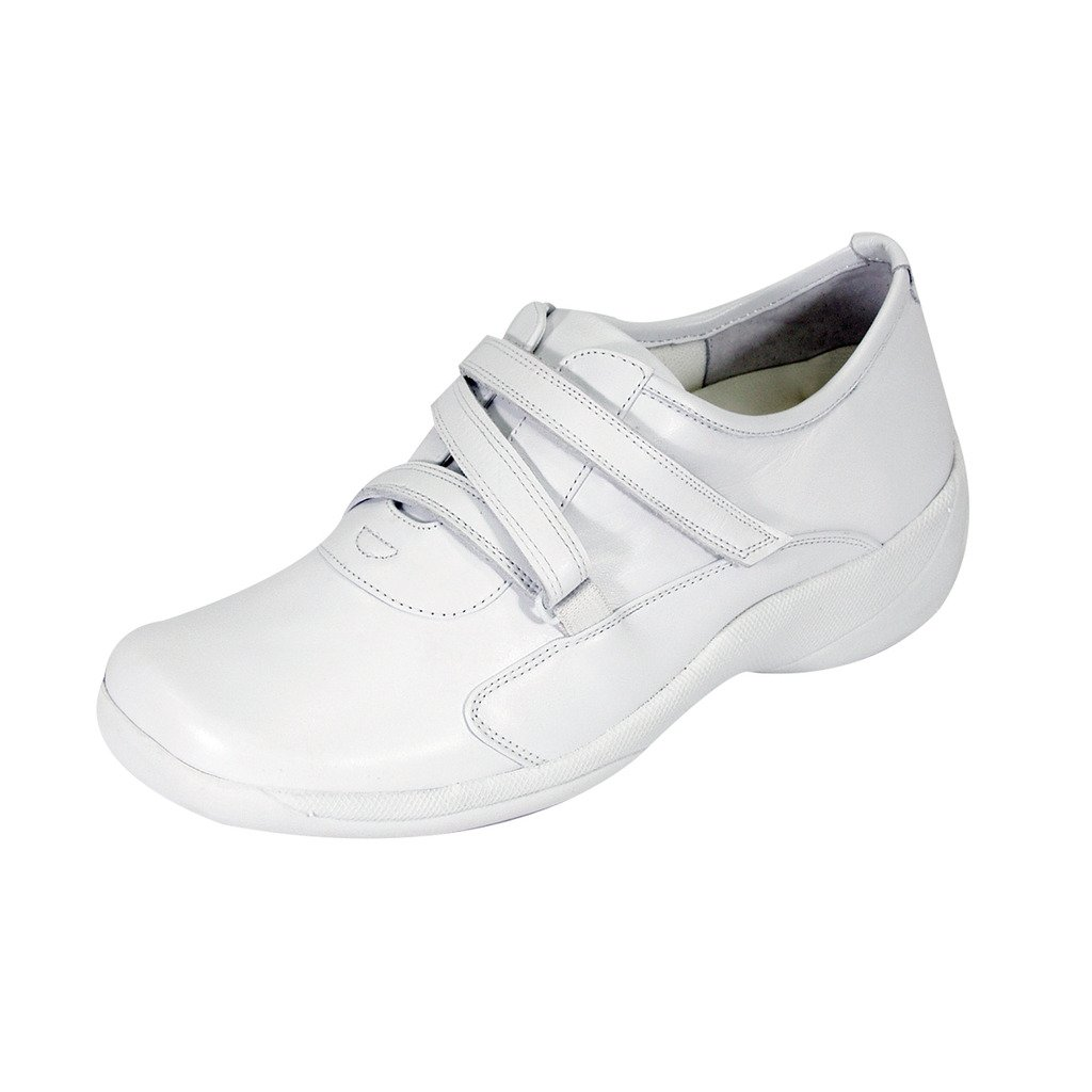 24 Hour Comfort  Ricki Women Extra Wide Width Fastener Shoes White 10